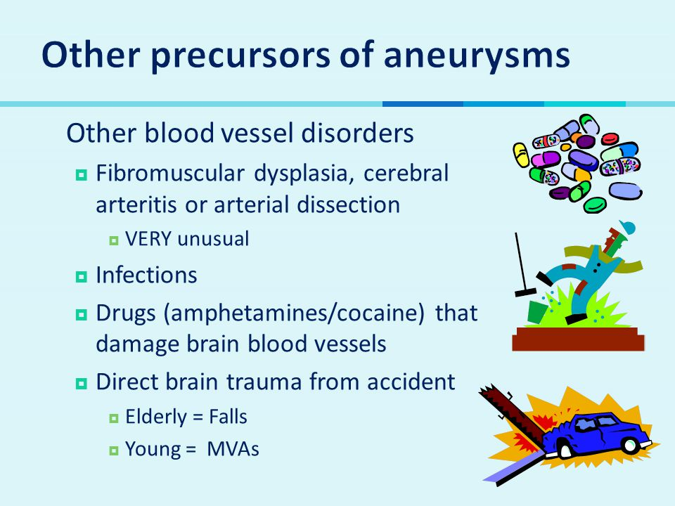 Other precursors of aneurysms