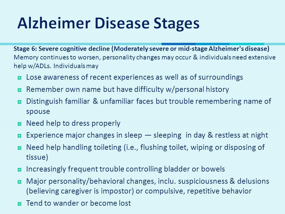 Alzheimer Disease Stages