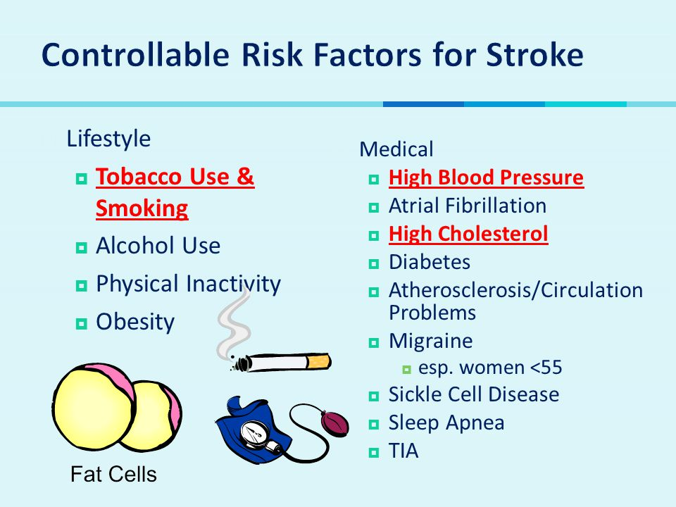Controllable Risk Factors for Stroke