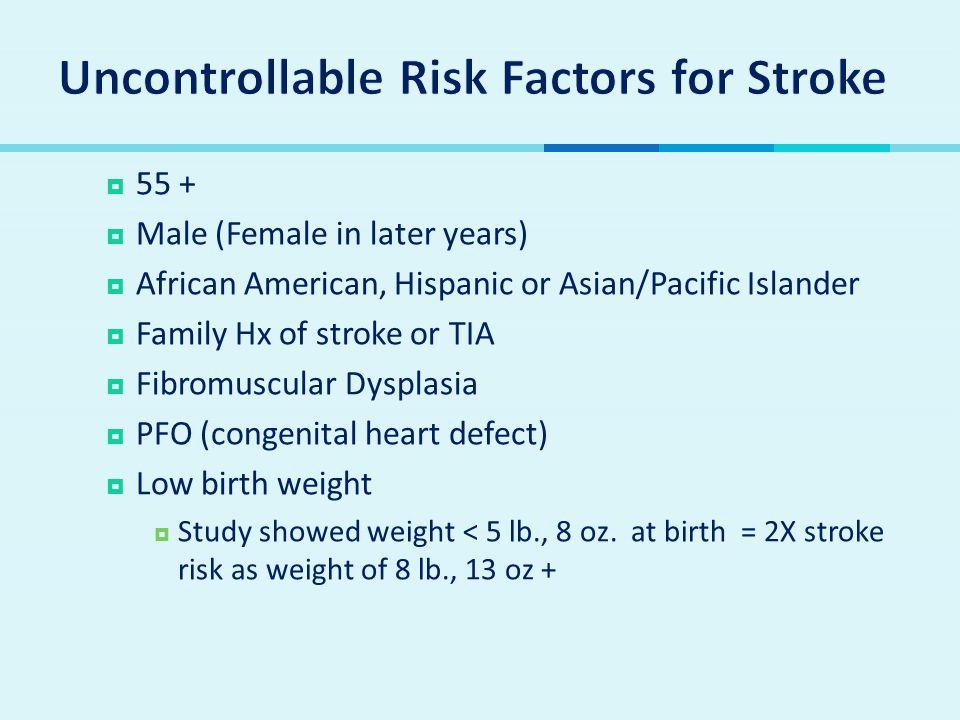Uncontrollable Risk Factors for Stroke