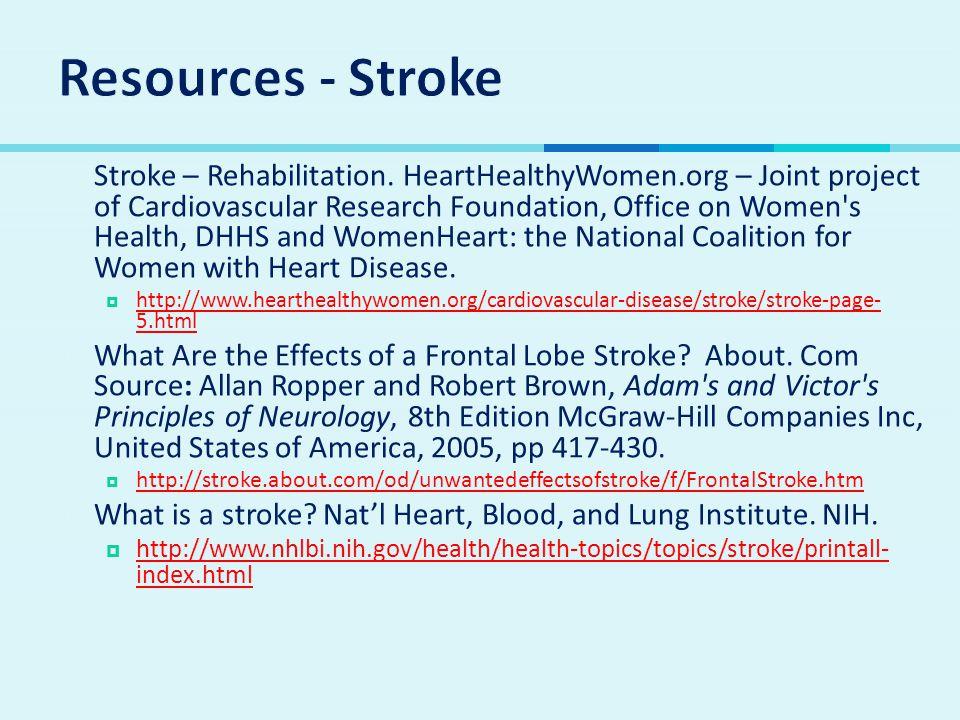 Resources - Stroke