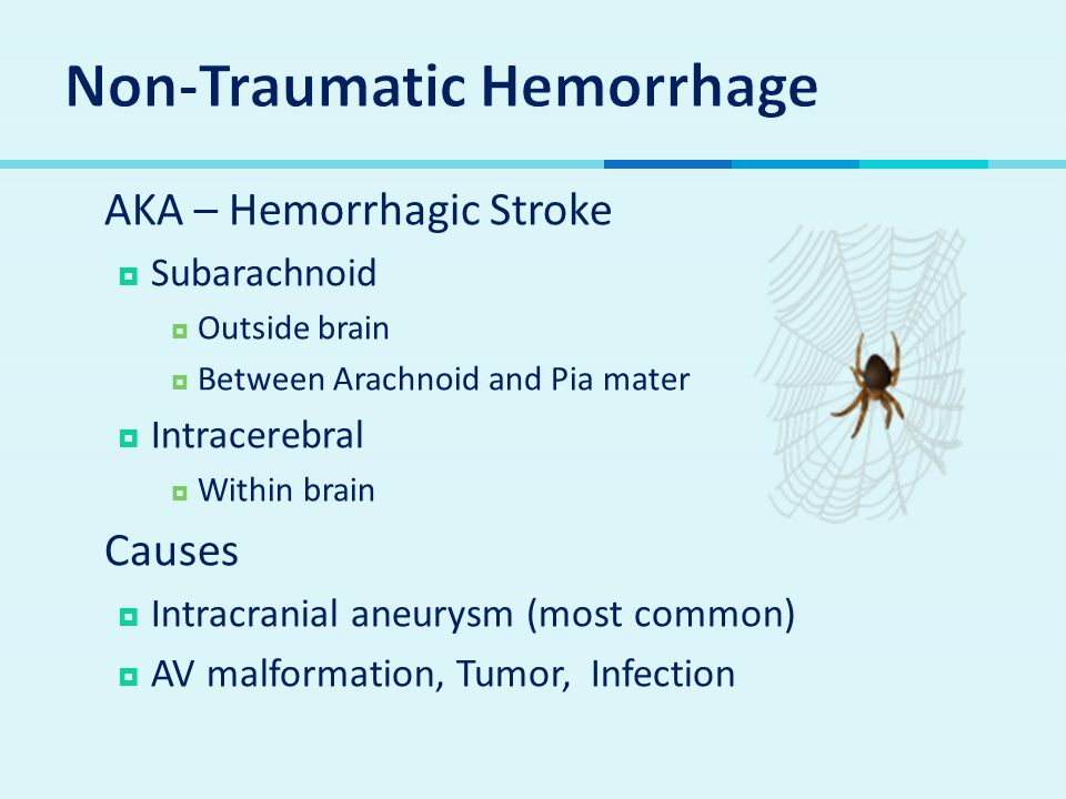 Non-Traumatic Hemorrhage