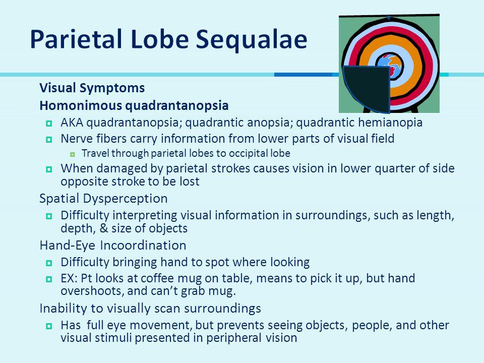Parietal Lobe Sequalae