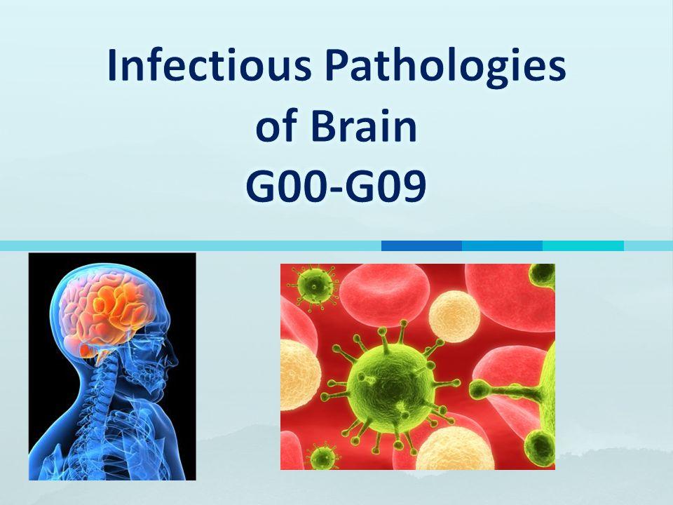 Infectious Pathologies of Brain G00-G09