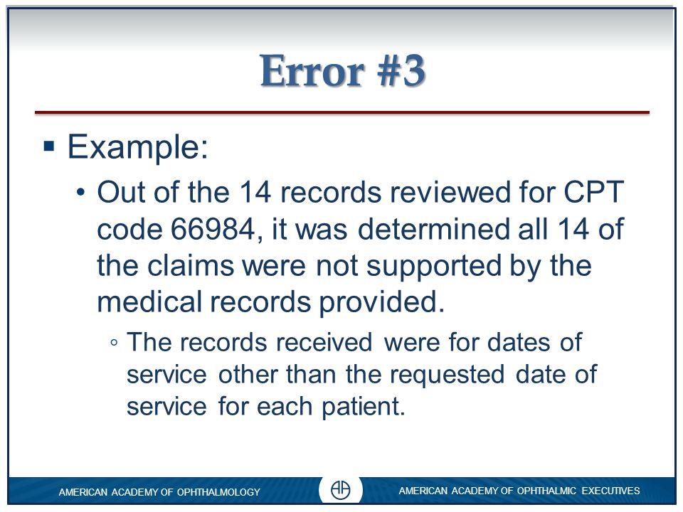 Error #3 Example:
