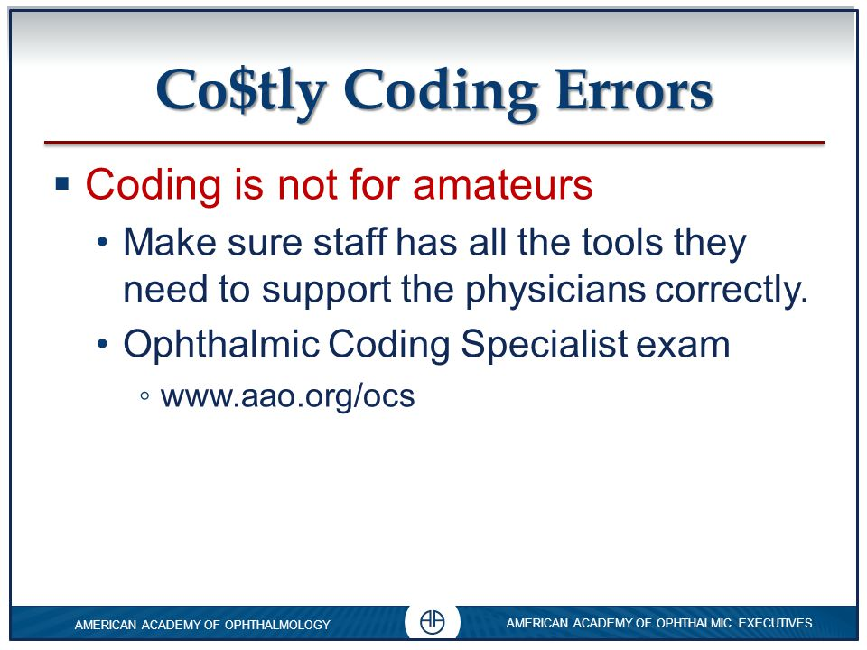 Co$tly Coding Errors Coding is not for amateurs
