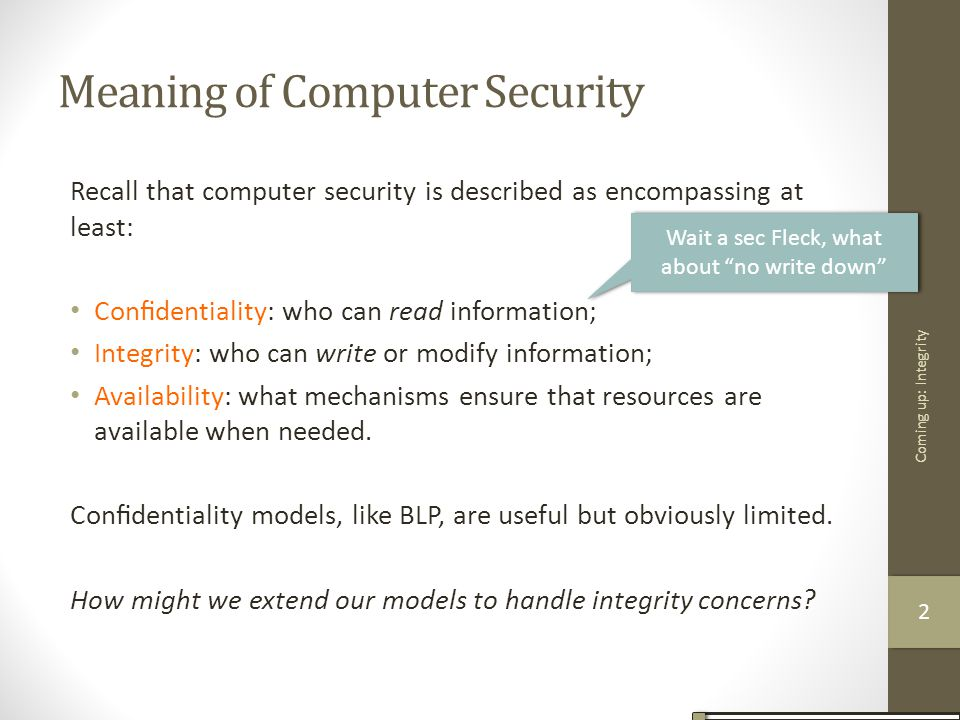 Meaning of Computer Security