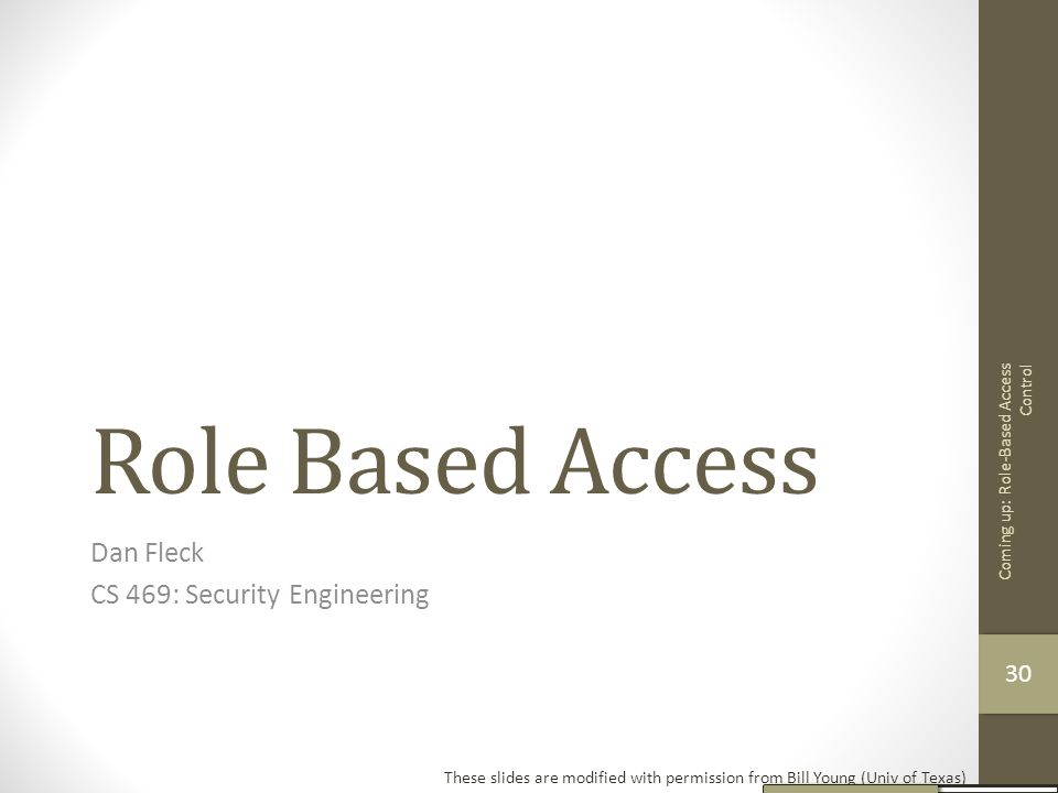 Dan Fleck CS 469: Security Engineering