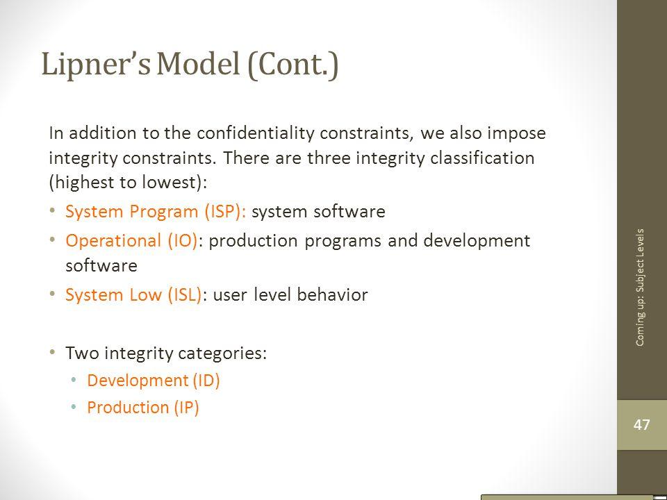 Lipner's Model (Cont.)