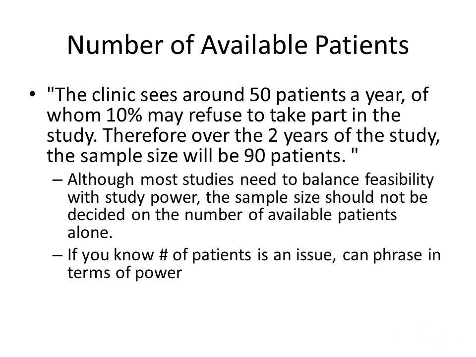 Number of Available Patients