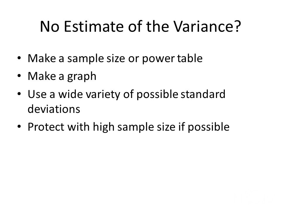 No Estimate of the Variance