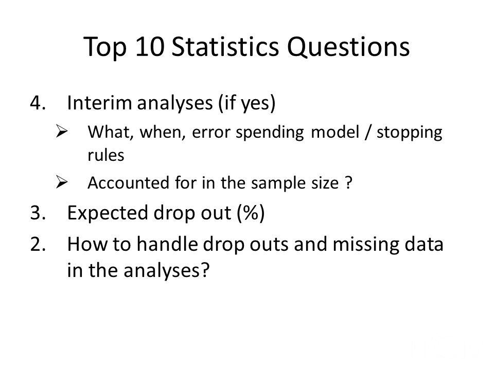 Top 10 Statistics Questions