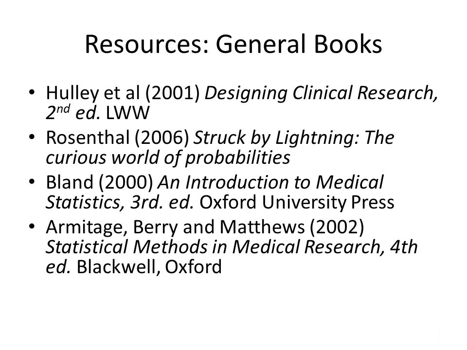 Resources: General Books