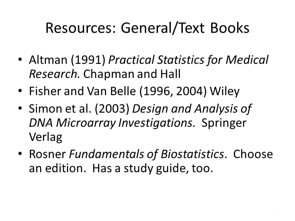 Resources: General/Text Books