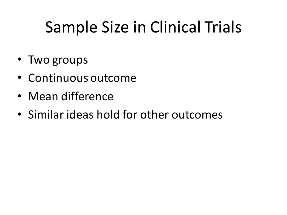 Sample Size in Clinical Trials