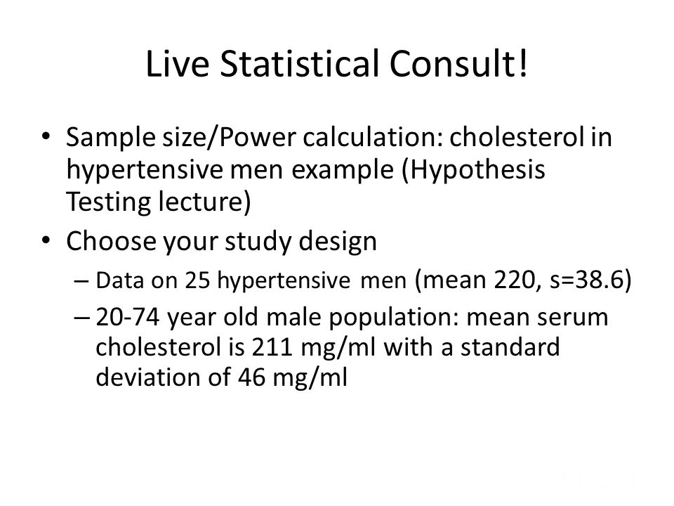 Live Statistical Consult!
