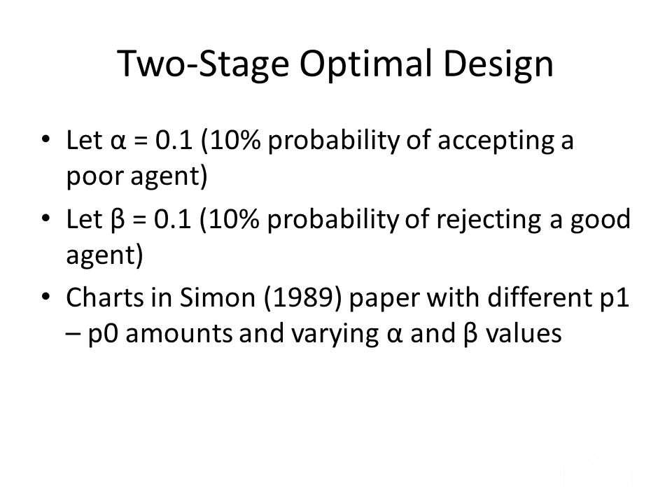 Two-Stage Optimal Design