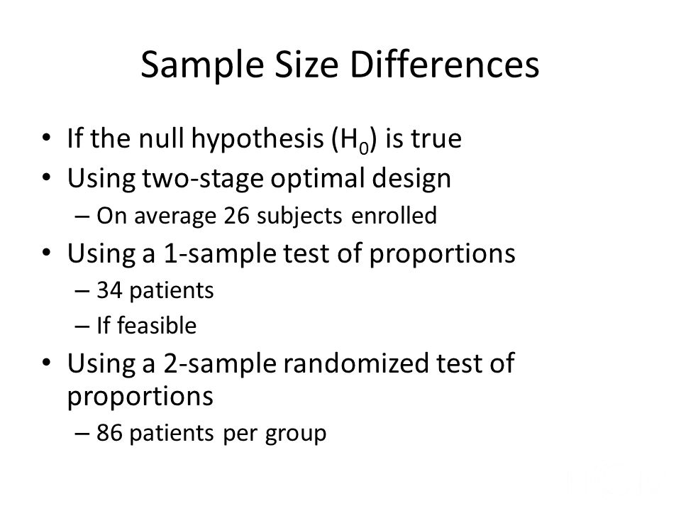 Sample Size Differences