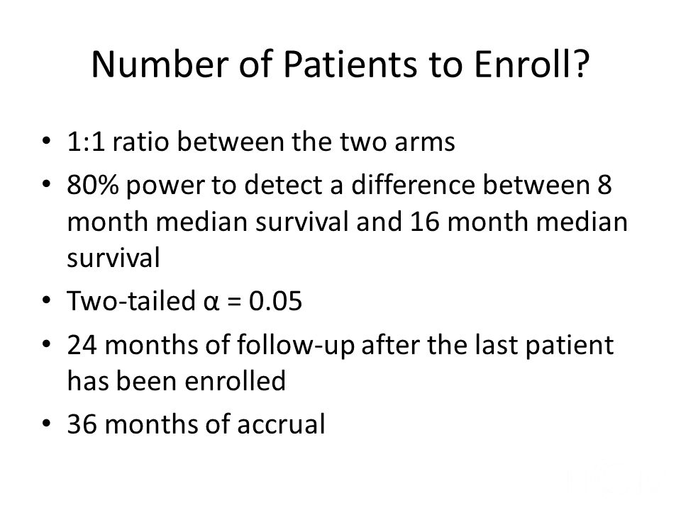 Number of Patients to Enroll