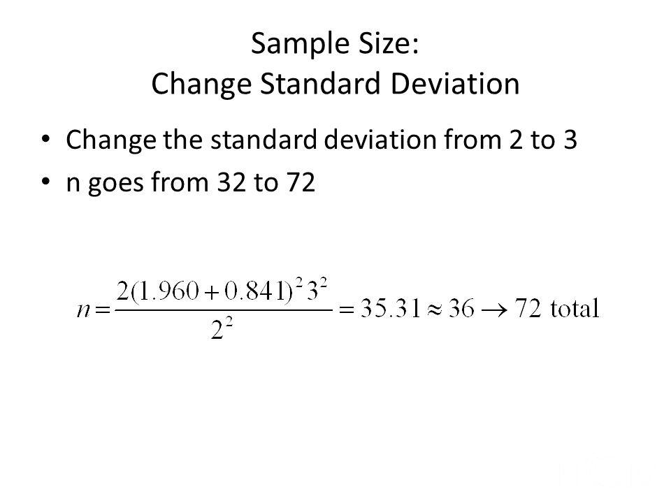 Sample Size: Change Standard Deviation