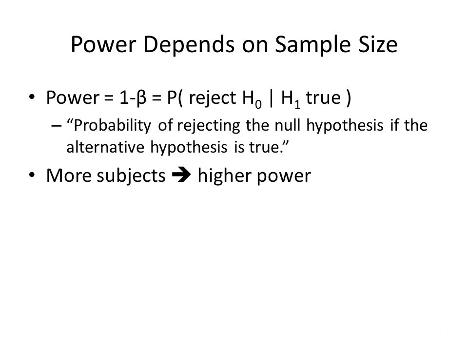 Power Depends on Sample Size