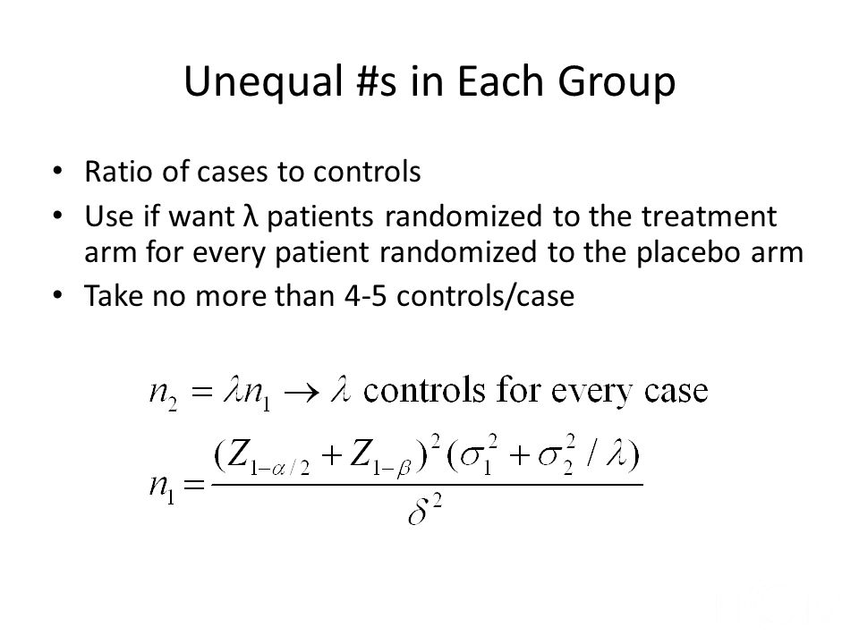 Unequal #s in Each Group