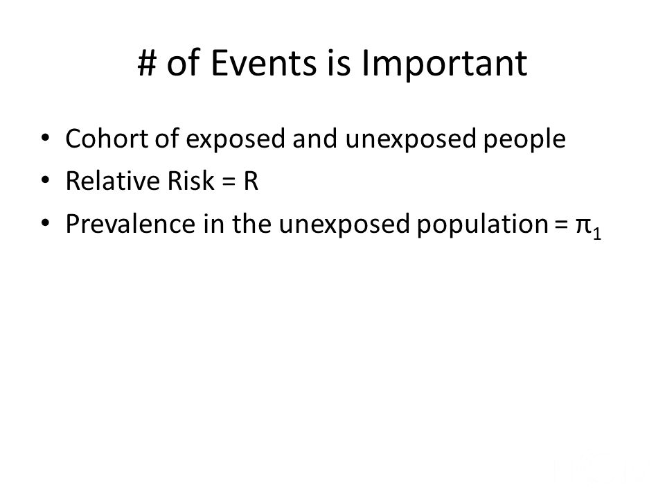 # of Events is Important
