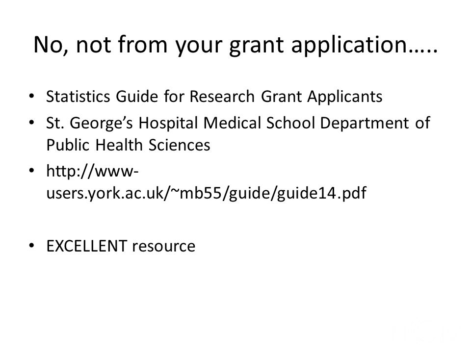 No, not from your grant application…..
