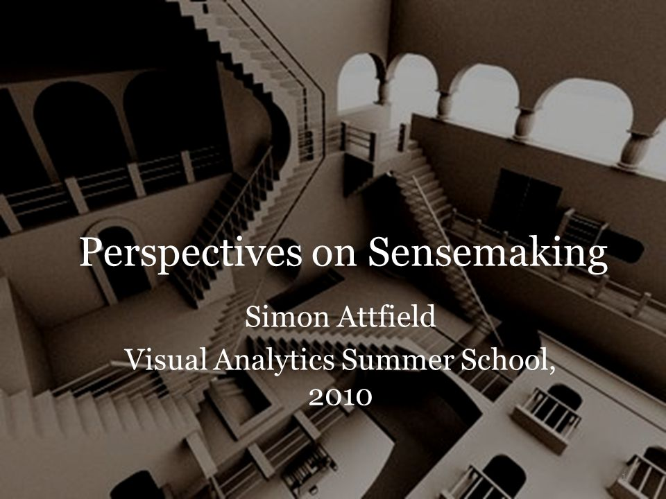 Perspectives on Sensemaking