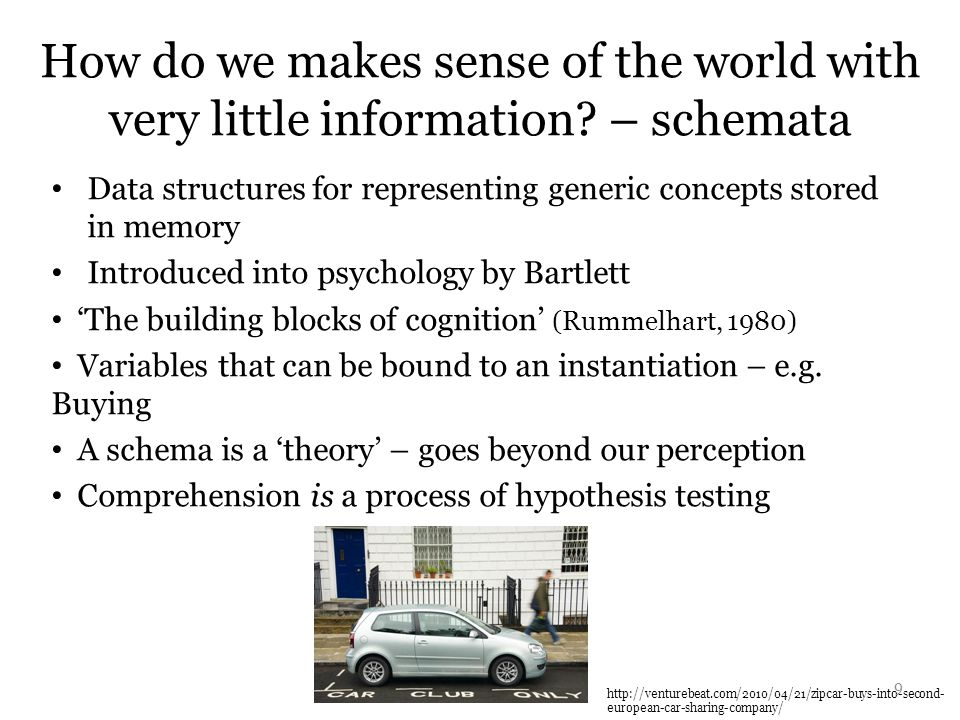 How do we makes sense of the world with very little information