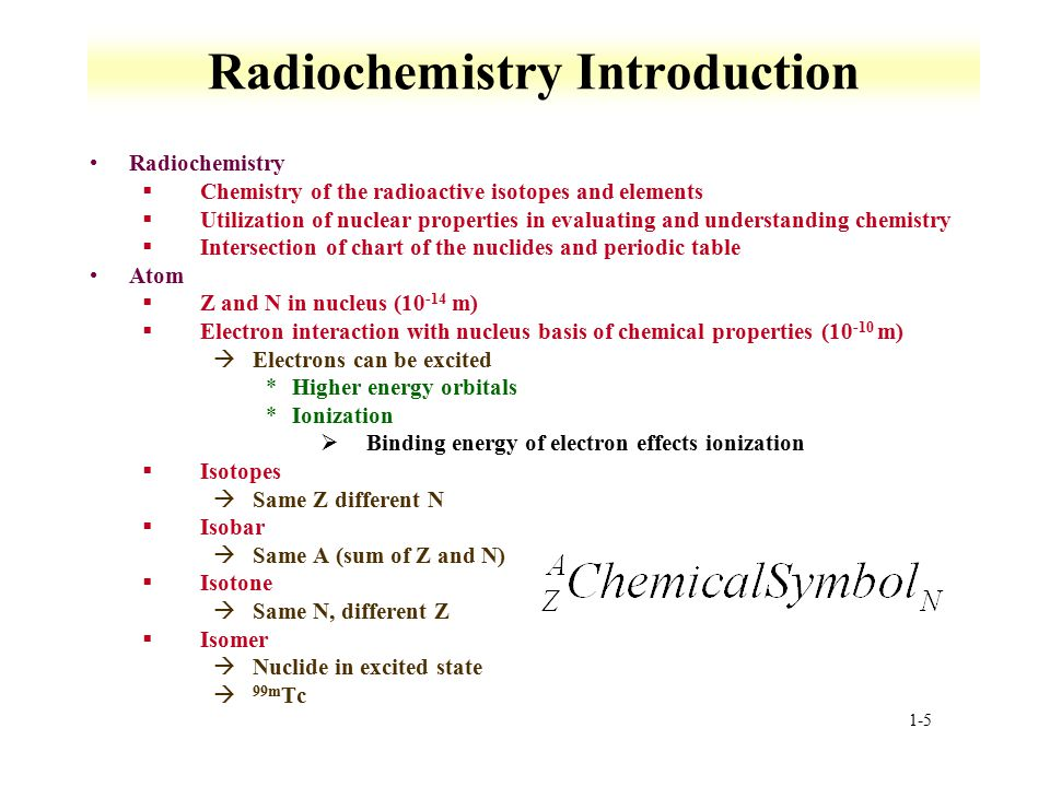 Radiochemistry Introduction