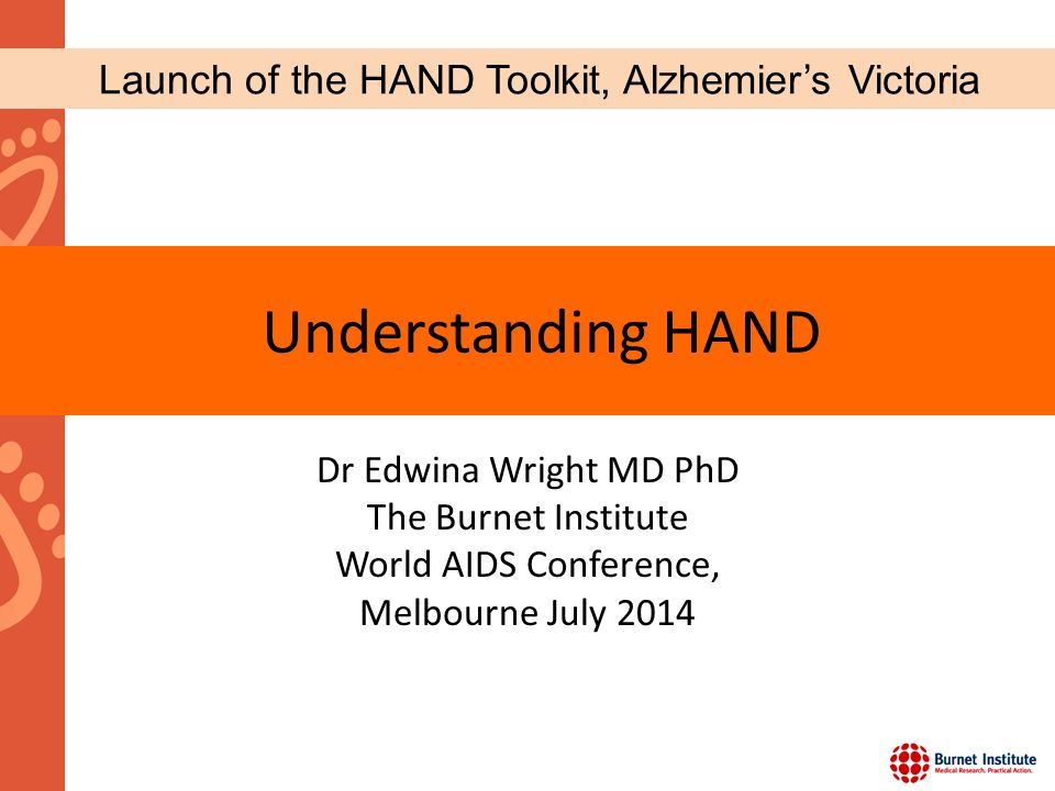 Launch of the HAND Toolkit, Alzhemier's Victoria