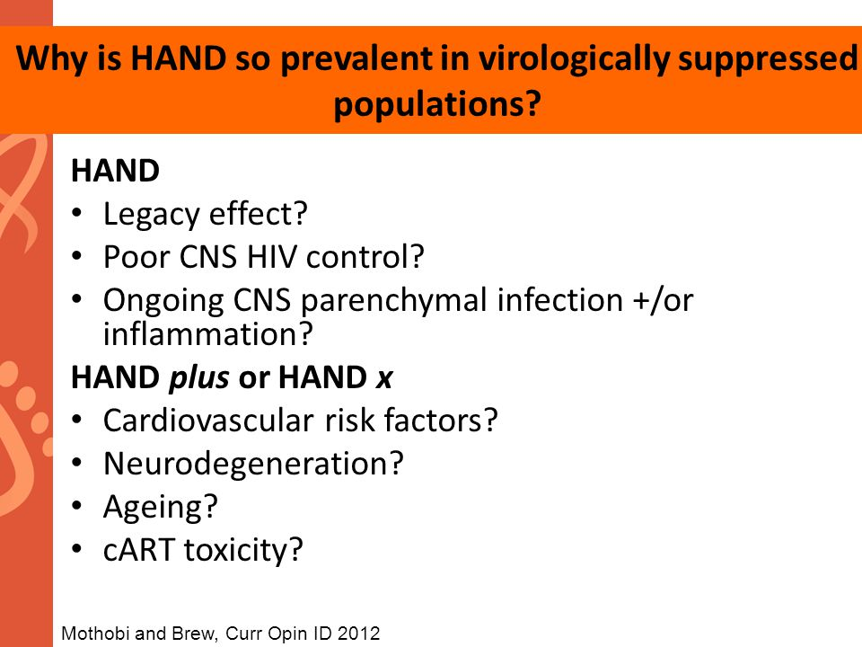 Why is HAND so prevalent in virologically suppressed populations