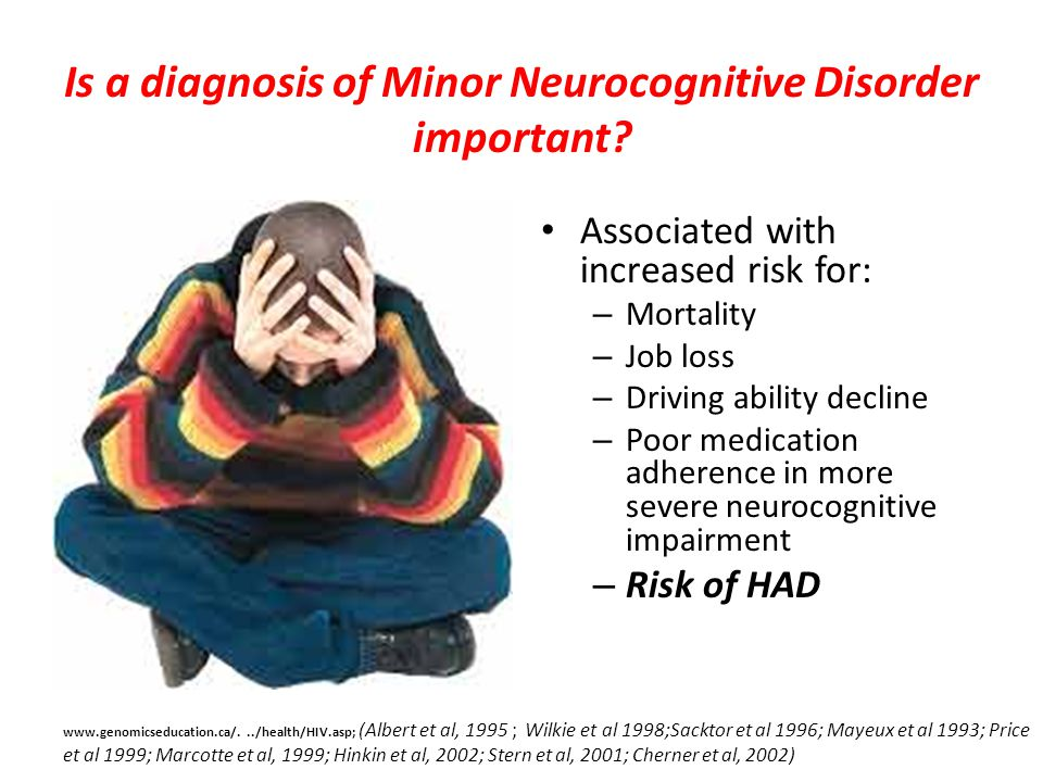 Is a diagnosis of Minor Neurocognitive Disorder important