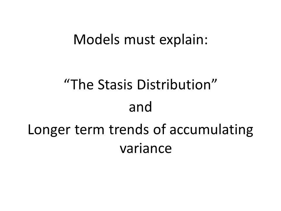 The Stasis Distribution and