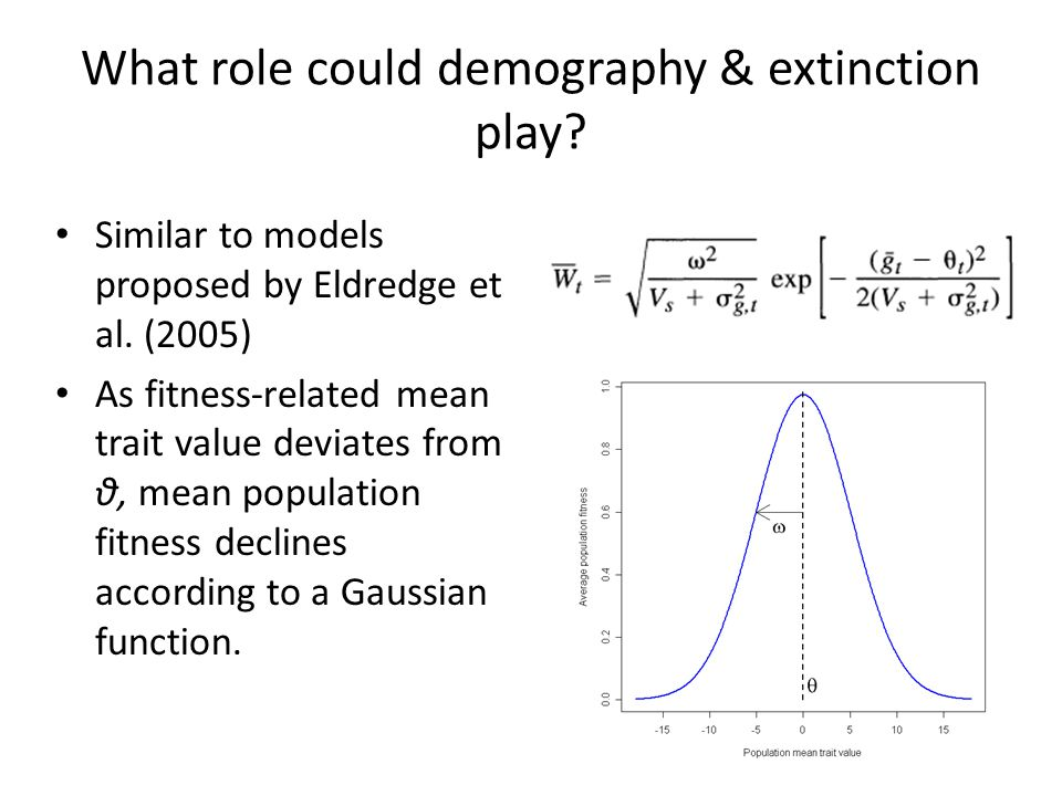 What role could demography & extinction play