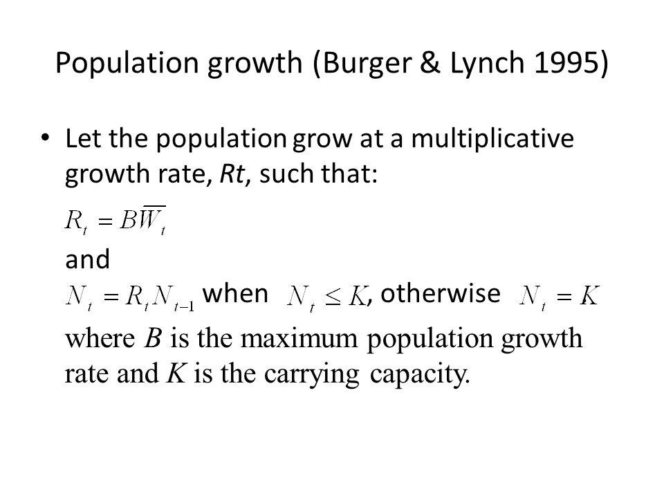 Population growth (Burger & Lynch 1995)