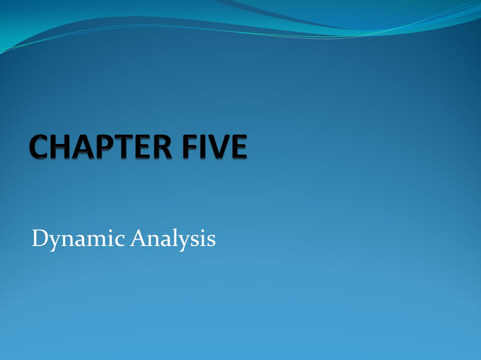 CHAPTER FIVE Dynamic Analysis