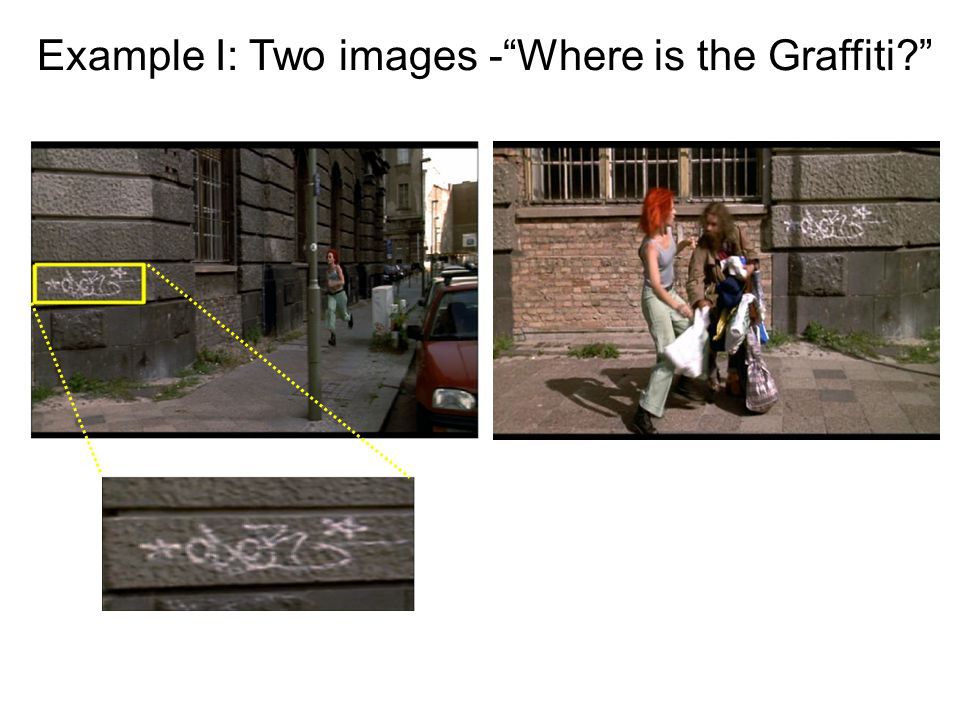 Example I: Two images - Where is the Graffiti