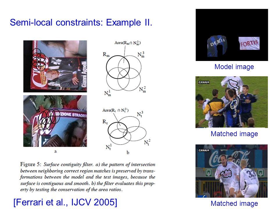 Semi-local constraints: Example II.