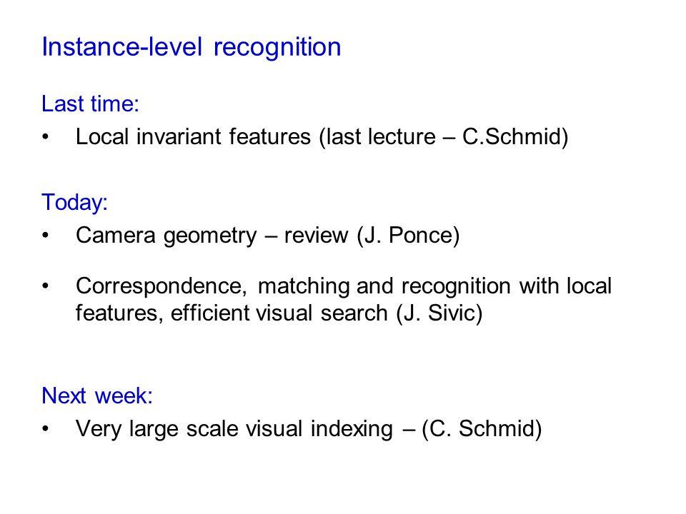 Instance-level recognition