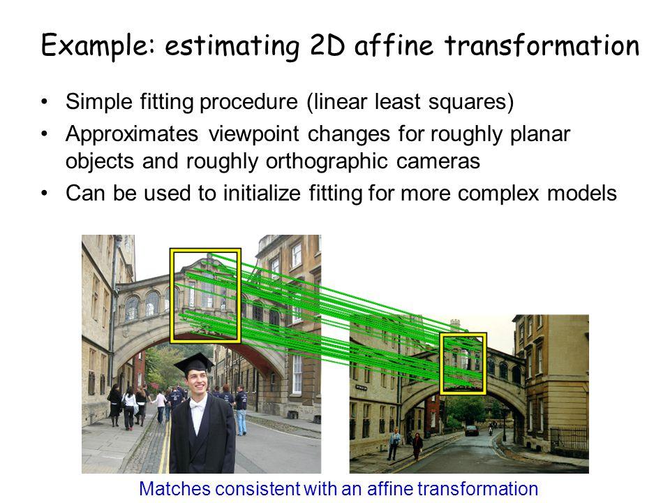 Example: estimating 2D affine transformation