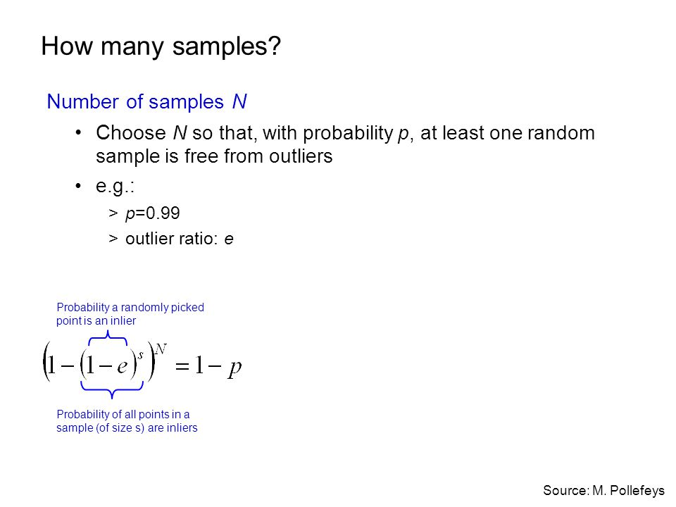How many samples Number of samples N