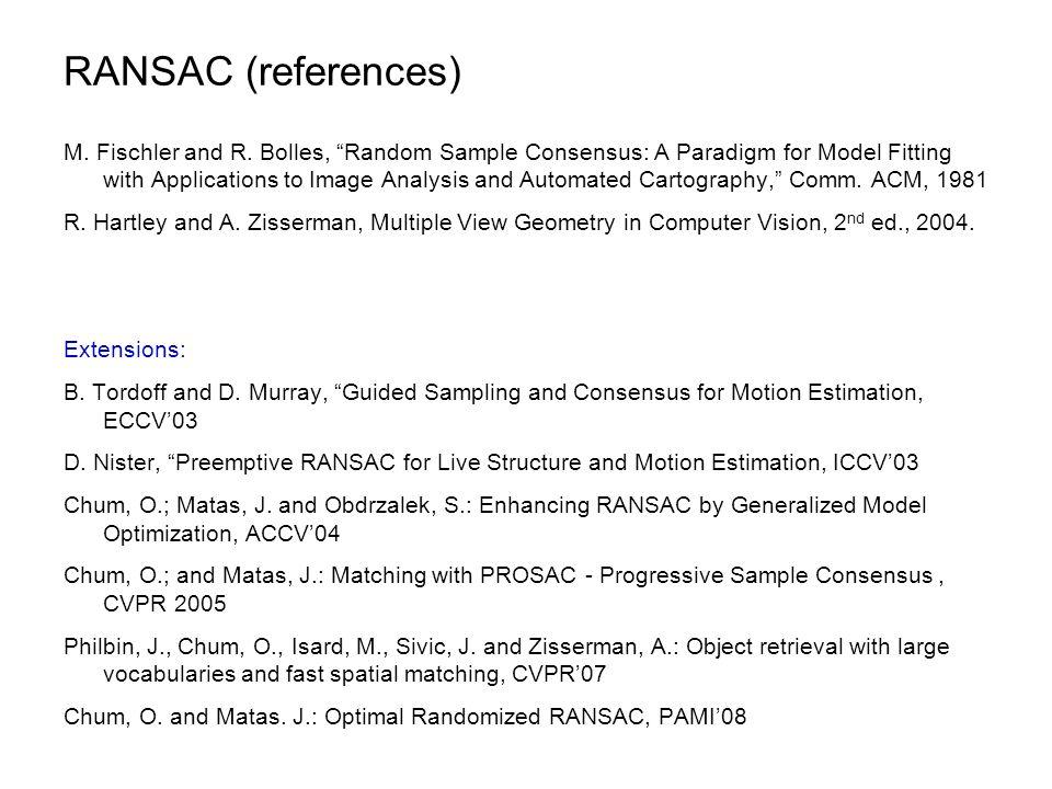 RANSAC (references)