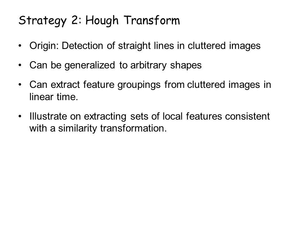 Strategy 2: Hough Transform