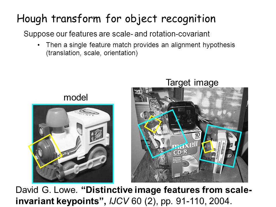 Hough transform for object recognition