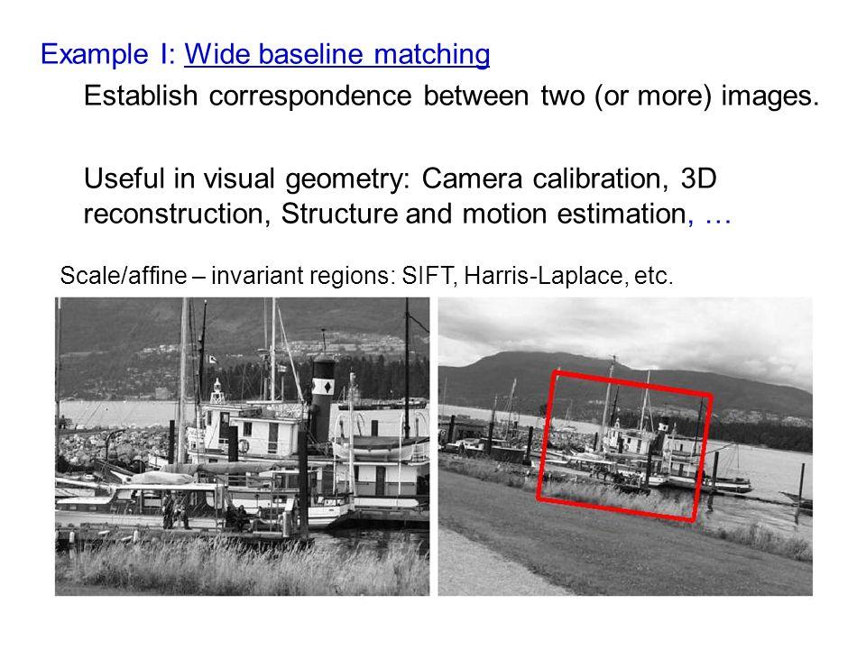 Example I: Wide baseline matching