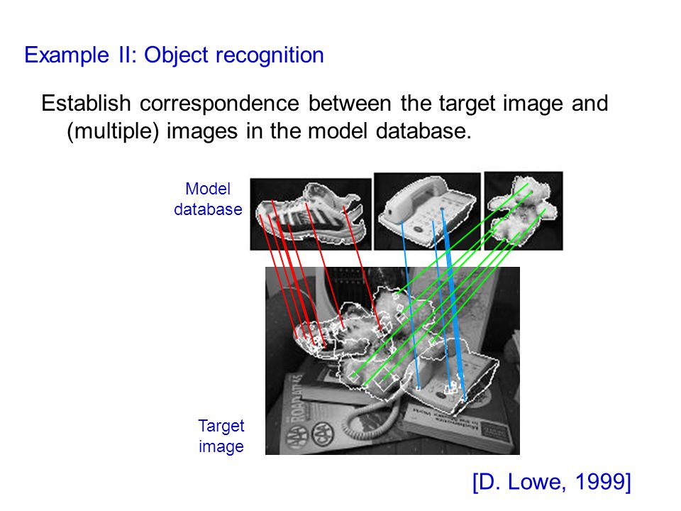 Example II: Object recognition