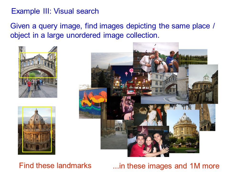 Example III: Visual search