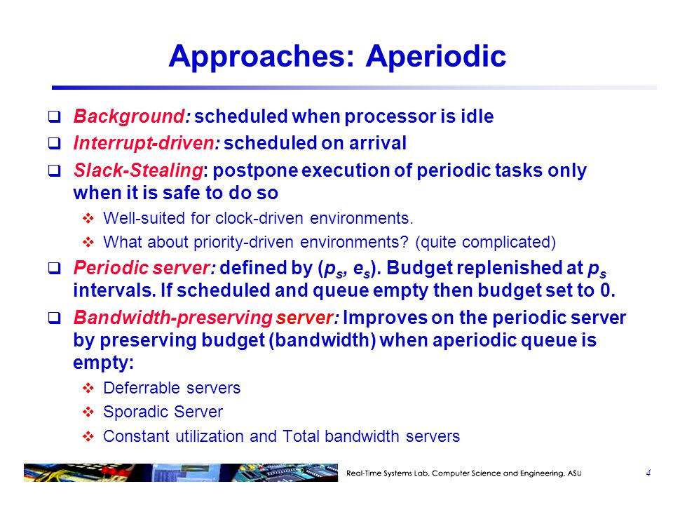 Approaches: Aperiodic